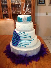 Quince Cake (Art Cakes) Tags: flower cake diamonds quince fondant