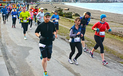 First Half Feb 16 2014 085720 (gherringer) Tags: canada vancouver race outdoors athletics downtown bc exercise britishcolumbia competition running seawall runners englishbay stanleypark colourful westend fit active bibs 211km 131mi vanfirsthalf 2014firsthalfhalfmarathon