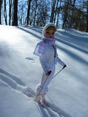 (8) Thinking of her Sweetheart.... (Foxy Belle) Tags: winter white snow ski look set vintage outside doll barbie clone miss suzette uneeda
