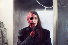 Breaking Bad (miriness) Tags: selfportrait girl photoshop fan blood autoportrait explosion damage parody tvshow faceoff autorretrato remake fineartphotography twoface heisenberg conceptualphotography noeye breakingbad gusfring gustavofring gusdeath