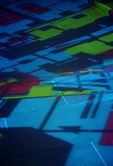 WN Colour 21 (Leigh Lambert) Tags: light white film night analog 35mm exposure kodak pavement sigma melbourne projection analogue footpath msm whitenight 2014 ektar sigmasa300 sa300 melbournesilvermine