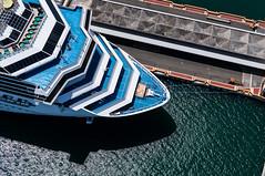 Kite Above the Port of San Juan Puerto Rico (Wind Watcher) Tags: cruise carnival light kite yellow port puerto san ship juan glory levitation delta rico caribbean windwatcher
