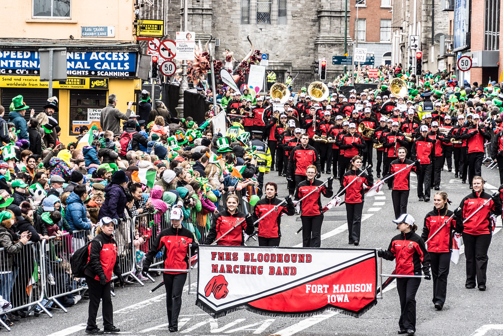 Marching Bloodhounds At The St. Patrick's Day Parade In Dublin [Ireland]