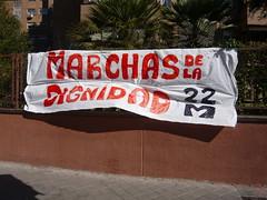 PANCARTA EN PLAZA ELÍPTICA 04#22M (Jül2001) Tags: protest movimiento revolution revolución politica marchas 15m manifestaciones protestas 22m libertades spanishrevolution 15mayo movimientossociales luchasocial indignados recortessociales marchasdeladignidad