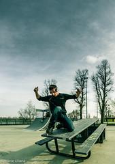 L'inchino (Marco Uliana - Scarab) Tags: canon milano fisheye skatepark roller rollerblade 8mm scarab pattini idroscalo samyang pattiniinlinea canon7d marcouliana scarabprod fotodimilano
