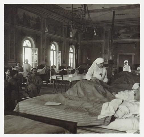 Ospedale della Croce Rossa Italiana n. 52 ad Orta, 1916,  Reparto Cinematografico del Regio Esercito Italiano, Roma, Museo Centrale del Risorgimento