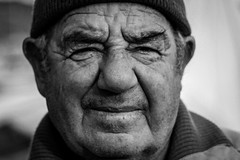 Maltese fisherman (Hannah_Kirkland) Tags: travel portrait people white man black face person fisherman europe culture streetphotography malta maltese