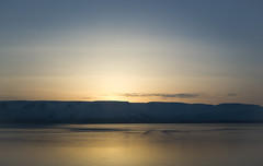 smooth sunset (Luppenko) Tags: ocean winter sea snow mountains cold ice water iceland pentax snowcovered