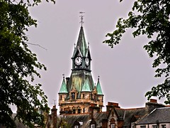 Dunfermline City Chambers in HDR (penlea1954) Tags: city uk tower clock face court french four james scotland office fife c gothic architectural walker council styles chambers hdr impressive scots dunfermline designed edifice registrar burgh historically baronial
