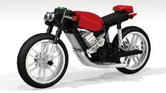 Café Racer (hajdekr) Tags: toy lego motorcycles motorbike technic moto motorcycle vehicle ldd legodigitaldesigner legotoyline