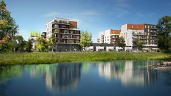 Eco-quartier Ginko, au bord du lac