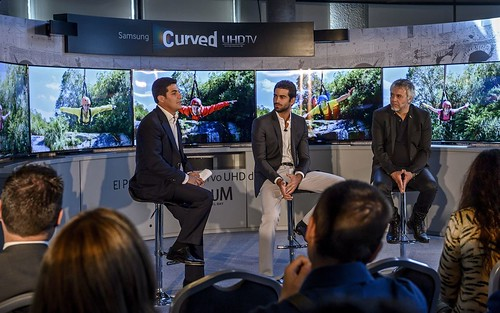 Rubén Cortada y Javier Quintas en un acto promocional de Samsung