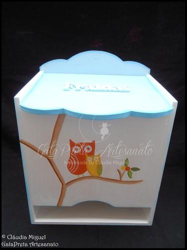 """Fraldário, régua crescimento, candeeiro, moldura e placa porta """"Birds&OwlsIII"""""""