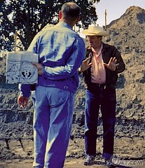 Walt at Disneyland construction - wm