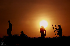 Hard Workers ..!! (Jams Nabil) Tags: people hardworker workers sunlight redsky bangladesh dhaka photography photographs canon photos picture flickr explore createxplore