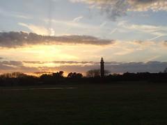 Sunset in Ouddorp. (Fijgje On/Off) Tags: zonsondergang sunset vuurtoren lighthouse ouddorp goereeoverflakkee zuidholland nederland netherlands fijgje iphone5s mrt2017 iphone5sbackcamera415mmf22