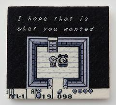 The Legend of Zelda: Link's Awakening (version 4) (2014) (perfhager) Tags: perfhager steneprojects contemporaryart gaming craft needlepoint embroidery handmade 刺繍 ゲーム 美術 現代美術 クラフト ハンドメイド アート