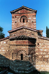 Apse of the Church of St. Stephen, Kastoria, April 2006 (5telios) Tags: church nikkor byzantine nikkormat kastoria nikkormatel 28mmf35ai
