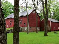 red barn and building (natureburbs) Tags: barn scenic redbarn historicbarn newjerseynature