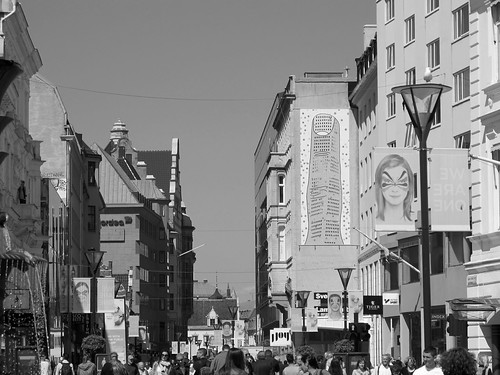 Södergatan in ESC Week B/W