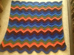 Patricia A Hinojosa (The Crochet Crowd) Tags: ripple crochet mikey yarn blanket afghan april redheart chevron challenge freepattern 2013 freecrochetpattern thecrochetcrowd oceanoceanwavesafghan