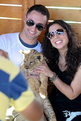 JimAli and Lion (ByTheMoose) Tags: family vacation plane mexico engagement loscabos