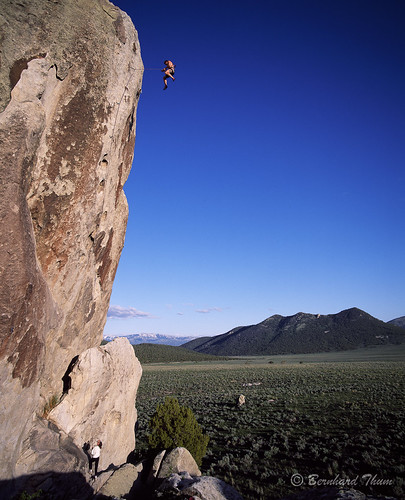 Sascha Flohé in »Take a hike« (5.13a) at Checkered Demon, City of Rocks