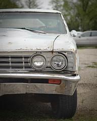 Life Left to Give (earthtokristophor) Tags: light color classic chevrolet car digital america 35mm vintage nikon automobile muscle grain chevy noise d5100
