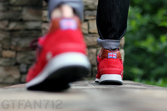 "New Balance 577 ""Country Fair"" - Red (GTFan712) Tags: new uk canon shoe 50mm shoes f14 sneakers made sneaker balance 577 newbalance countryfair madeinuk t2i newbalance577 gtfan712 577countryfair"