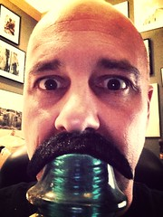 Day 155 of 365 - James Joyce (sluggoman) Tags: selfportrait coffee starbucks coffeemug mustache spc 365days 365daysproject uploaded:by=flickrmobile flickriosapp:filter=mammoth mammothfilter