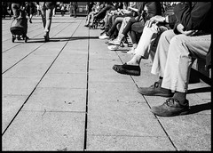Wait! (altinada) Tags: street feet walking shoes waiting strada sony 14 sigma wait piedi barcellona slt spagna rambla attesa catalogna panchina a99