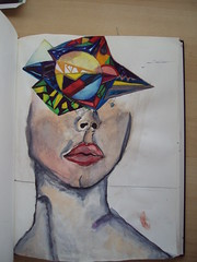 (zeynep ilkkurun) Tags: art girl face watercolor draw vangogh illstrasyon