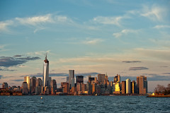Manhattan Dusk (glidergoth) Tags: usa ny newyork sailing harbour yacht manhattan nj