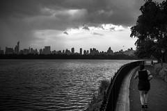 run and rain 2 (zoolien) Tags: leica blackandwhite bw usa newyork rain noiretblanc centralpark manhattan run nb m9
