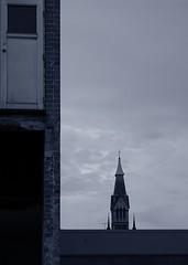 L-Line (dan2275uk) Tags: door blue skyline spire buildingsite bluemonochrome danielwalker sedge808 dan2275uk
