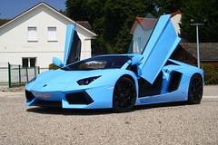 Baby Blue. (Thomscars) Tags: blue cloud baby paris cars saint de thomas turquoise 4 lp and 700 coffe lamborghini pineau hippodrome 2013 worldcars aventador thomscars
