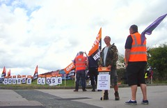 Golf Course Closed (brightondj - getting the most from a cheap compact) Tags: orange golf workers brighton purple flag union protest flags solidarity pay golfcourse council strike gmb banners cuts unison dispute picketline worldphotographyday privatisation tradeunion austerity industrialdispute mytimeactive brightongolfcoursestrike