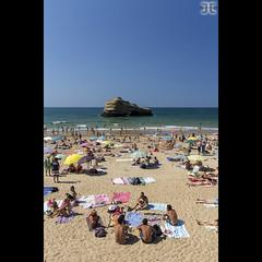 Plage Miramar (JoshJackson84) Tags: blue france beach water vertical sand europe waves crowd 64 basque atlanticocean biarritz paysbasque sigma1020mm aquitaine pyrénéesatlantiques crowdedbeach canon60d frenchbasquecountry plagemiramar
