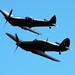 Hurricane LF363 (Mk IIc) YB-W, Spitfire TE311 (Mk LF XVIE)