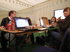 FOSS4G - Dinner time - River restoration Challenge group (aburt) Tags: nottingham uk england food dinner gis pizza developers opensource geo hacking hackathon 2013 metoffice foss4g