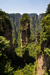 Mother Nature Gives a Massive Middle Finger (Universal Stopping Point) Tags: china green stone high altitude pillar rockface spire lush hunan forested zhangjiajienationalforest