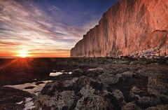"""Beachy Head - """"Its behind you"""" (JamboEastbourne) Tags: park sunset sea cliff white beach sisters sussex chalk rocks head south down cliffs east national seven foreshore"""