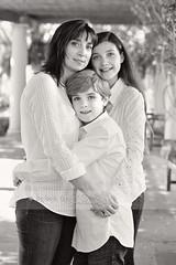 Trio... (Barbara Taeger Photography) Tags: family blackandwhite children hug peace mother embrace