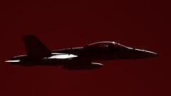 Boeing F/A-18 Hornet (Andy Burton Oz) Tags: red color colour monochrome fighter aircraft australia nsw newsouthwales warplane fa18hornet 2013 temora boeingfa18hornet afsvrzoomnikkor70300mmf4556gifed andyburton groundattackaircraft mcdonnelldouglasfa18hornet aperture35 nikond7000 flickrexport403 warbirdsdownunder2013