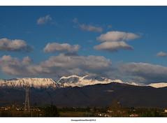 I hate pylons (Cjasar) Tags: panorama mountains alps montagne landscape photography plan pylon fotografia plain paesaggio friuli monts pianura friûl