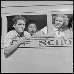 Salinas Valley, Monterey County, California. School Bus, 05/02/1940 (The U.S. National Archives) Tags: education transport usnationalarchives recordsofrights nara:arcid=532148