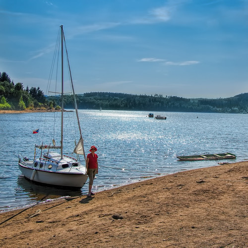 blue vacation woman lake beach water girl beautiful marina boat sand sailing prague yacht bank sail yachting