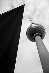 Berliner Fernsehturm V (Twizzer88) Tags: bw berlin germany deutschland modernism communist communism ddr socialist fernsehturm tvtower gdr socialism modernist dictatorship