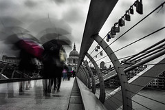 Life goes on and on.. (muneeb1988) Tags: street new eve bridge white black london love 35mm photography is nikon day cloudy over millennium locks years d600 35mmf14 samyang 2013