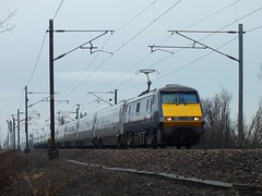 91118 Balne 04-01-13 (panmanstan) Tags: train yorkshire transport railway passenger eastcoast ecml balne class91 permanentway